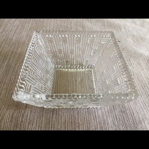 Tiffany & Co. Square Glass Bowl, New/original box
